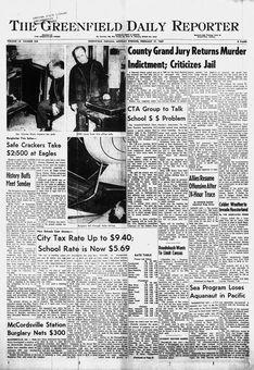 The Greenfield Daily Reporter, vol. LX, nº 254, 17 février 1969, p. 1