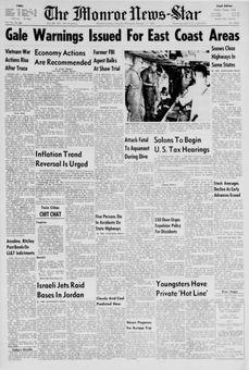 The Monroe News-Star, vol. 78, nº 66, 17 février 1969, p. 1