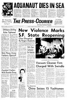 The Press-Courier, vol. 32, nº 232, 17 février 1969, p. 1