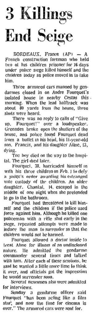 The Times, vol. LXIII, nº 206, 17 février 1969, p. 8A