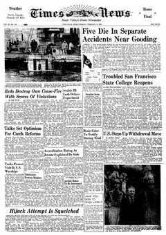 Times News, vol. 65, nº 310, 17 février 1969, p. 1