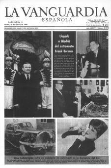 La Vanguardia española, nº 31945, 18/02/1969, p. 1
