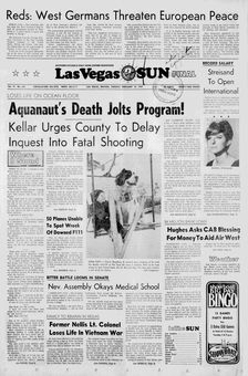 Las Vegas Sun, vol. 19, nº 233, 18/02/1969, p. 1