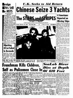 The Stars and Stripes, vol. 27, nº 304, 18/02/1969, p. 1