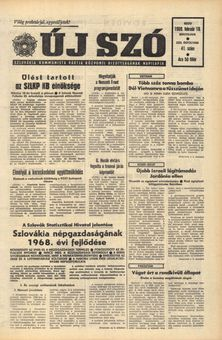 Új Szó, Vol. XXII, nº 41, 18/02/1969, p. 1