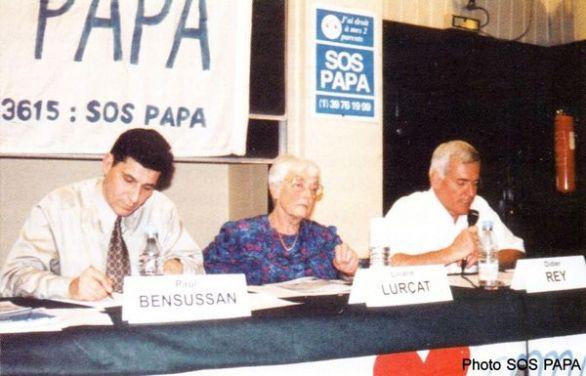 Paul Bensussan, Liliane Lurçat et Didier Rey, colloque du huitième congrès SOS PAPA, Paris, 12 juin 1999 (© SOS PAPA)