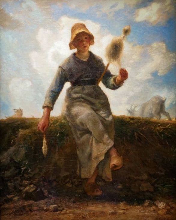 La fileuse, chevrière auvergnate (Jean-François Millet – Musée d'Orsay)