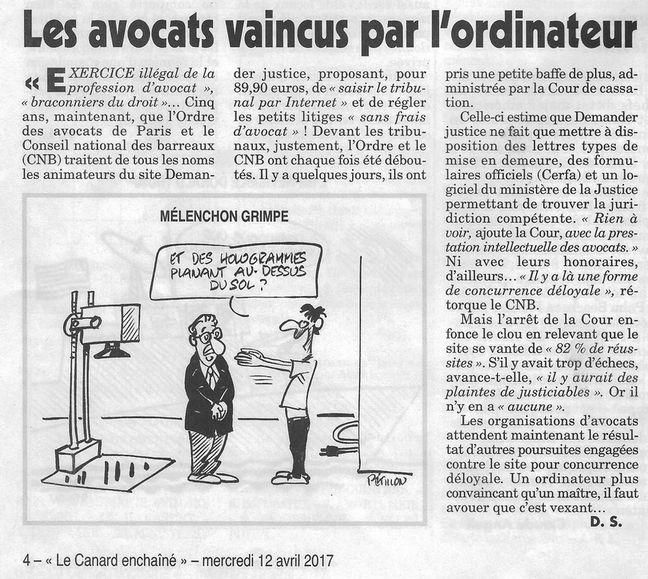 Le Canard enchaîné, nº 5033, 12 avril 2017, p. 4