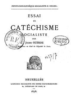 Essai de catéchisme socialiste