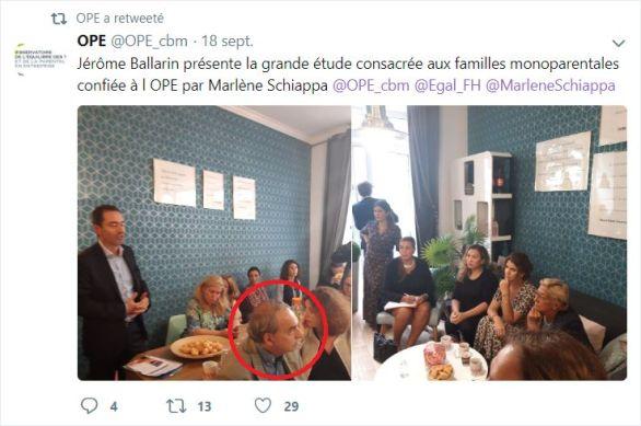 Jérôme Ballarin présente la grande étude consacrée aux familles monoparentales confiée à l'OPE par Marlène Schiappa