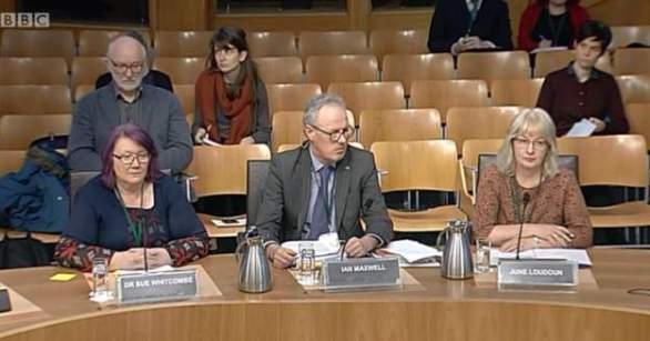 Audition de Shared Parenting Scotland par le Justice Committee (© BBC)