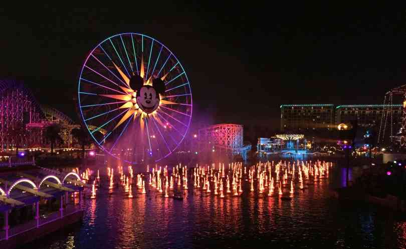 Foto da roda Gigante da Disneyland Califórnia.