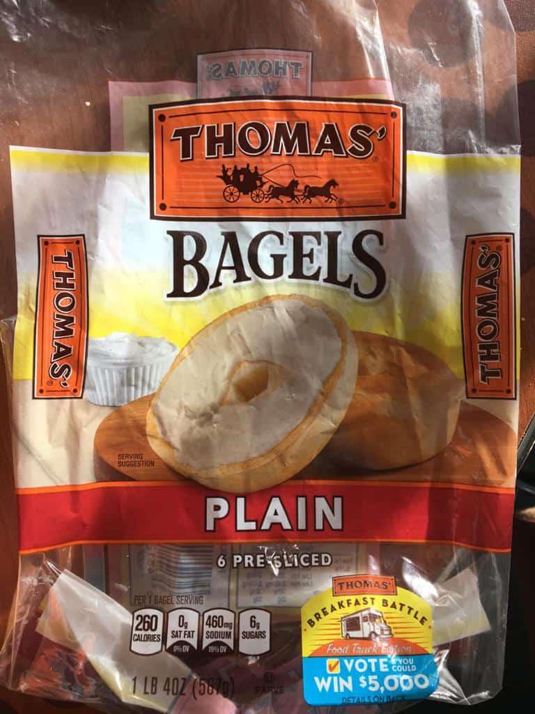 Imagem de bagel comprado no Walmart USA