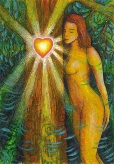 femme et arbre coeur