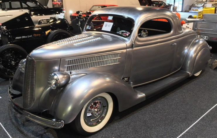 Tania and Steve Foster '36 Ford 3-window coupe
