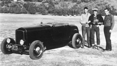 Doane Spencer's '32 Ford Deuce with Wally Parks and Ak Miller