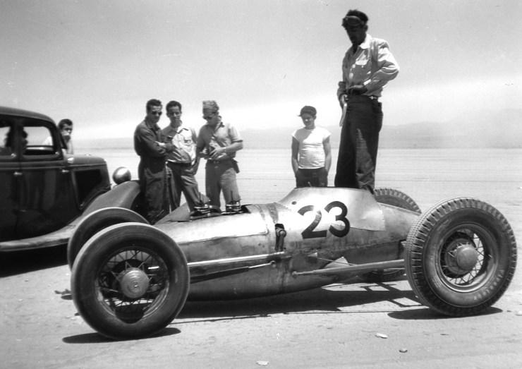 Bill Burke dry lakes hot rod racing