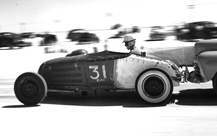 Dry lakes hot rod racing Barney Navarro
