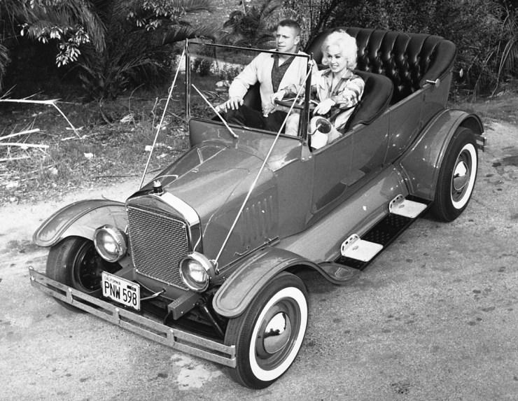Norm Grabowski's '23 T Touring car with Mamie Van Doren