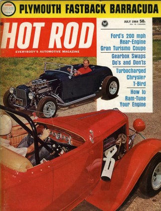 Les Jarvis 1932 roadster on Hot Rod magazine cover