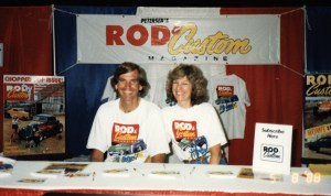Pat and Anna Ganahl at Rod and Custom magazine booth