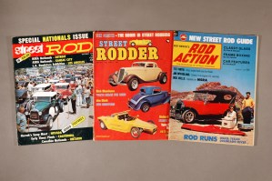 Street Rod, Street Rodder, and Rod Action magazine covers
