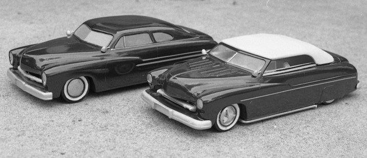 Miles Masa's chopped Mercury model cars