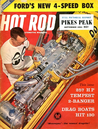 Roy Gammel on the cover of Hot Rod magazine