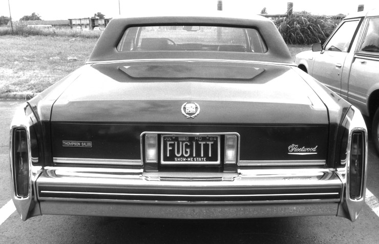 FUGITT car license plate