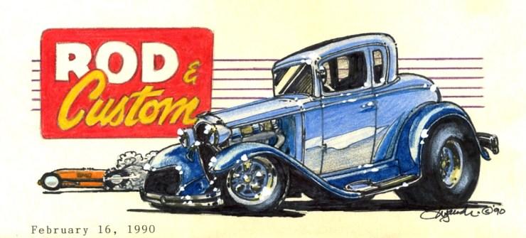 Rod and Custom hand drawn artwork