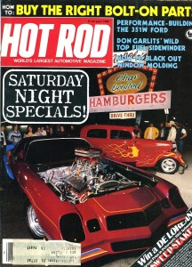 Hot Rod Magazine cover at Angelo's in Anaheim