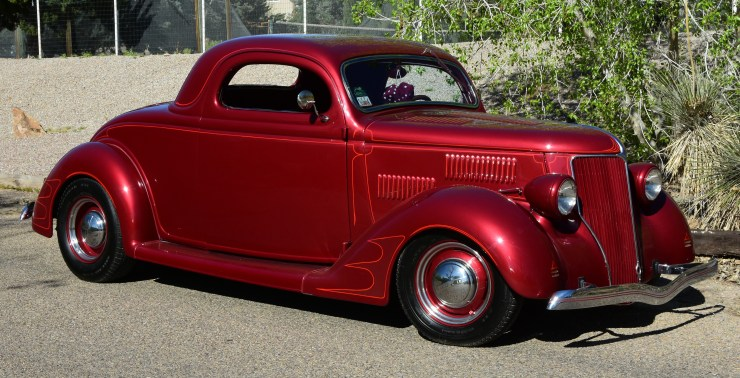 John Harvey's 3-window Ford with Von Dutch pinstriping