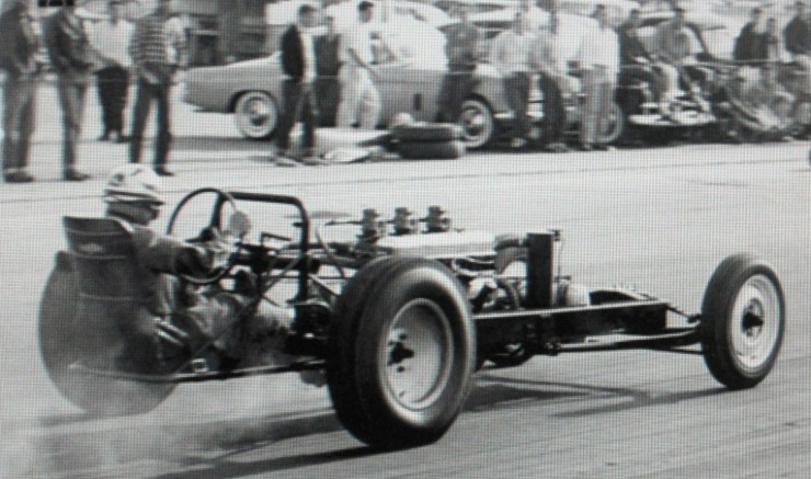 Early Iacono dragster driven by Sonny Valcaen