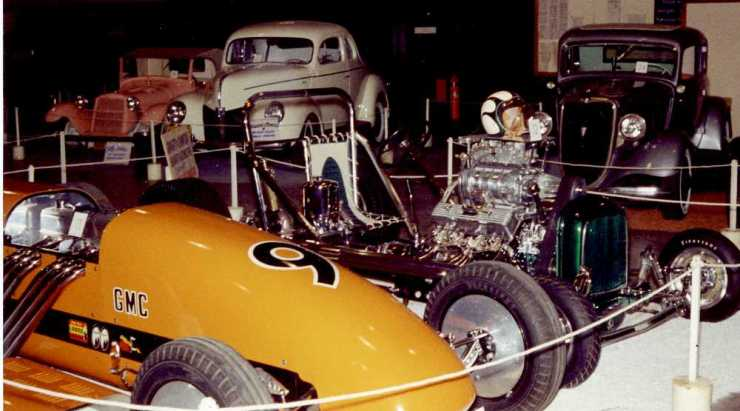"""Iacono dragster and Geraghty-Crawford """"Grasshopper"""" dragster"""