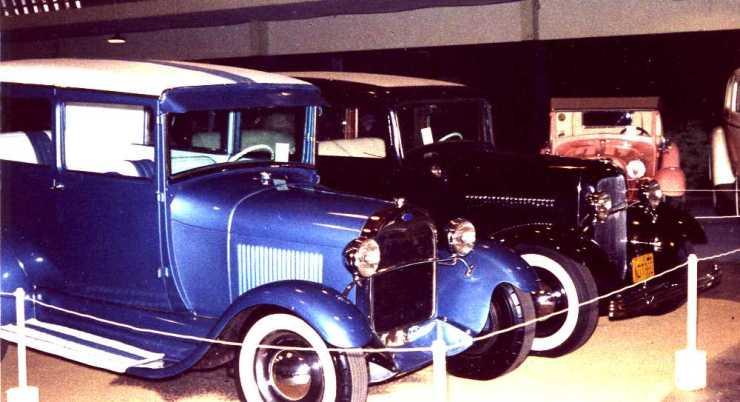 '29 sedan and Larry Banker's '32 Fordor sedan