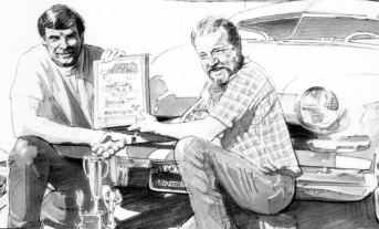 Charlie Smith artwork of Jack Walker and Dough Thompson with Hirohata Merc