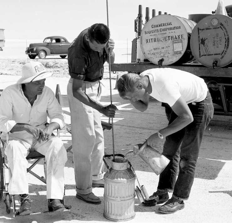 Mixing nitro Terminal Island Road Races Jan. '54