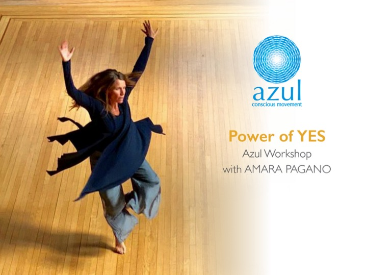 Taller de movimiento consciente de Azul con Amara Pagano Power of Yes