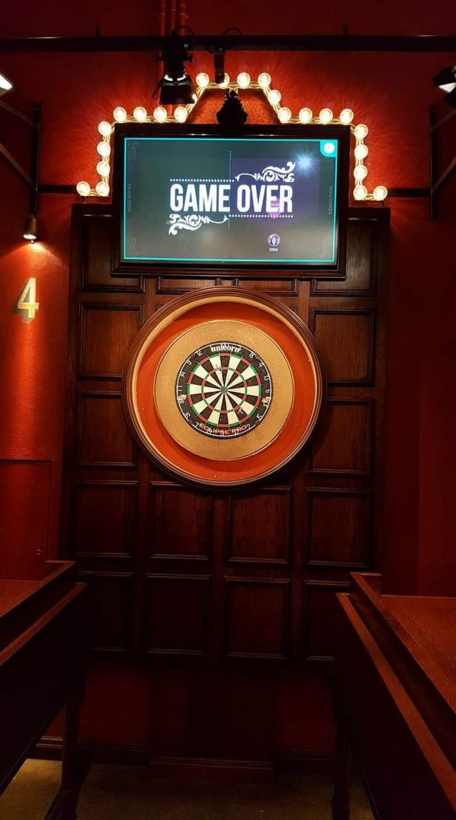 Interactive darts at Flight Club London