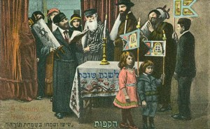 Rosh Hashanah Greeting Card (Circa 1910 Germany). credit: pathoftorah.com