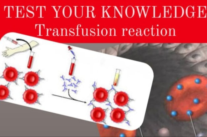 Transfusion reactions mcq- with answers and complete explanationexplanation. Test your knowledge by answering the questions.
