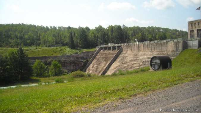 The Victoria Dam and hydroelectric plant on the Ontonagon River.