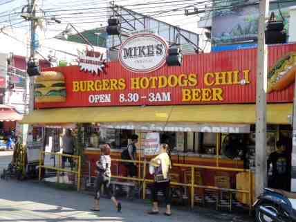 Burgers, hot dogs and chili. Though they make an awful chili dog.