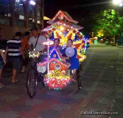 Crazy, fun rickshaw.