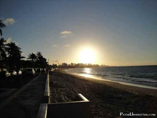 Sunset over San Juan, Puerto Rico.