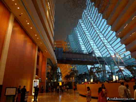 The main lobby of Marina Bay Sands.