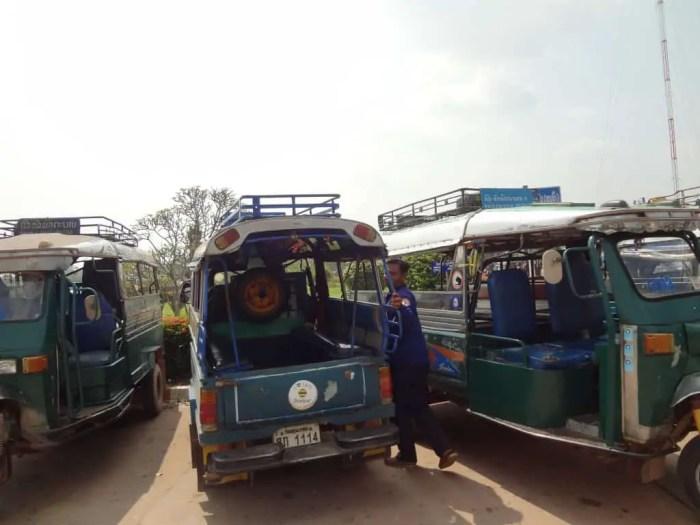Songthaew to Vientiane.