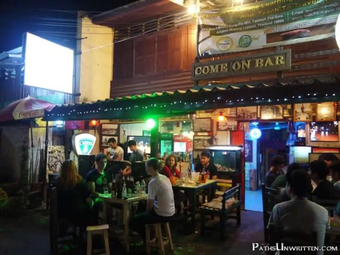Lopburi's street-side Come On Bar.