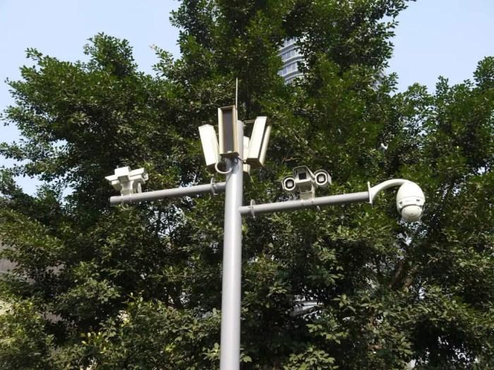 As always in China, plenty of surveillance.