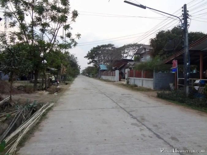 The main street of Ban Yang Ku village.